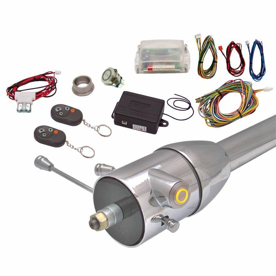 Yellow / Amber One Touch Engine Start Kit with Column Insert and Remote 427