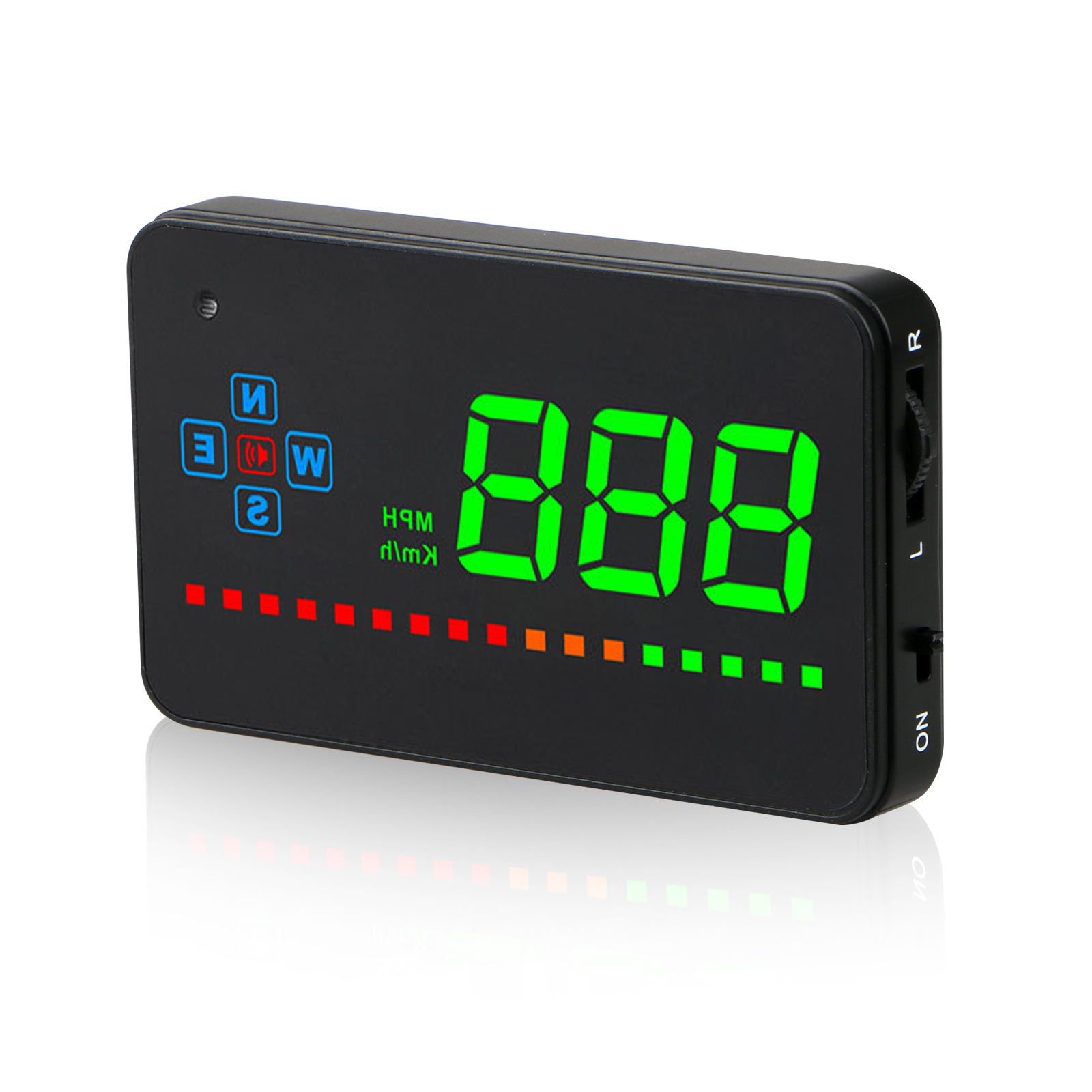 Universal Head Up Display Car GPS Speedometer HUD Overspeed Alarm MPH// KM//H Plug