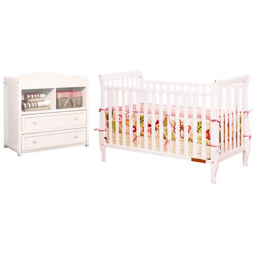 Afg Baby Furniture Naomi 4-in-1 Convertible 2 Piece Crib Set