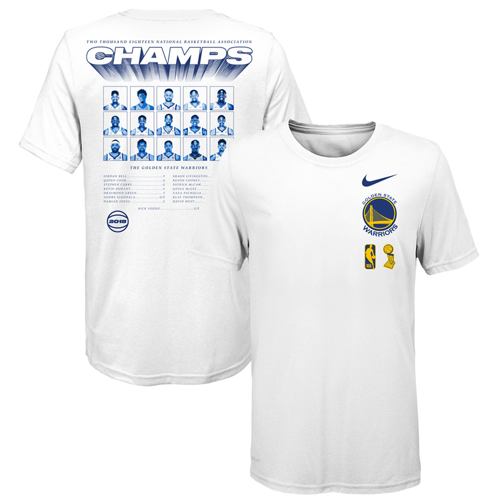 Golden State Warriors Nike Toddler 2018 NBA Finals Champions Roster T-Shirt - White
