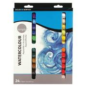Daler-Rowney Simply Watercolor Paint Tube Set, 12 ml / 0.4 fl. oz., 24 Piece