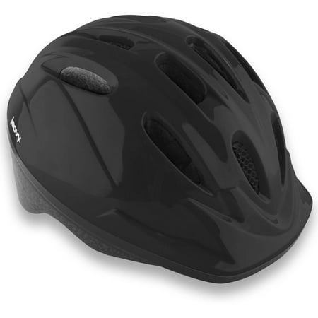 Joovy Noodle Kids Bicycle Helmet with Vented Air Mesh and Visor, Black ()