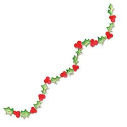 Printed Garland - Sizzix Sizzlits Decorative Strip Die Christmas Collection Die Cutting Template Holly Garland With Berries