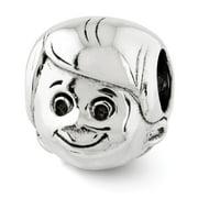 Sterling Silver Little Boy's Head Bead Charm