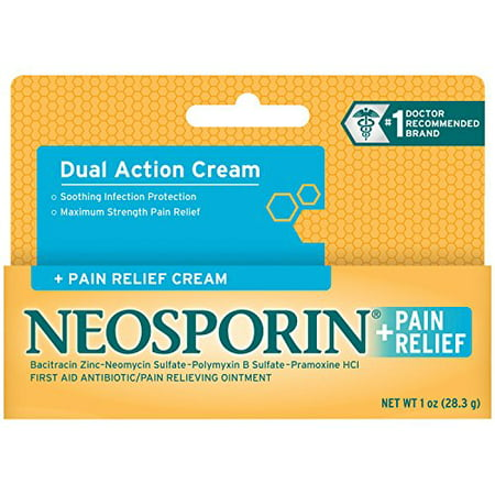 2 Pack - Neosporin + Pain Relief Cream Maximum Strength 1oz