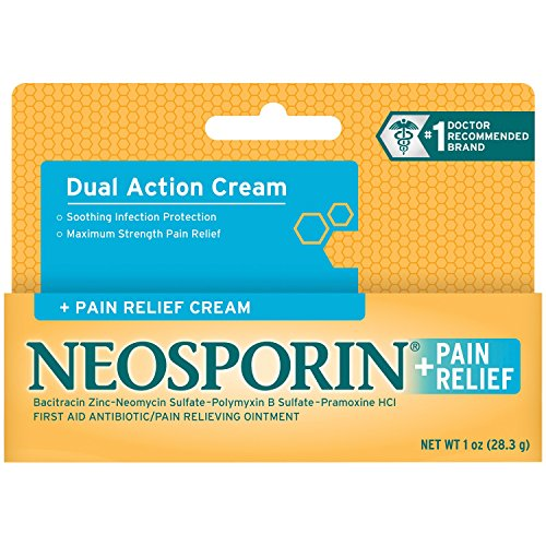 2 Pack - Neosporin + Pain Relief Cream Maximum Strength 1oz Each