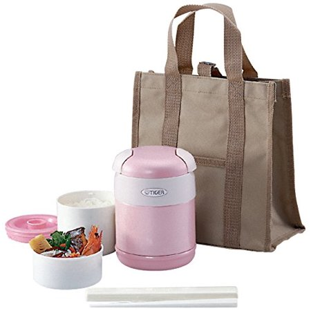 tiger corporation lwr-a072 thermal lunch box, pink