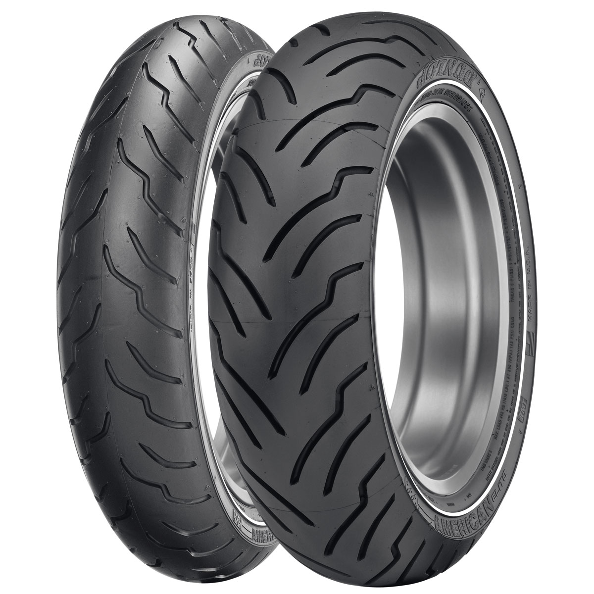 Dunlop American Elite MT90B16 Narrow Whitewall Front Motorcycle Tire