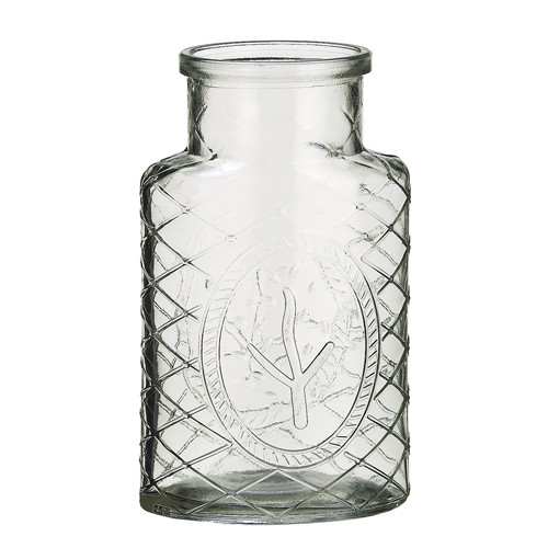 Silk Flower Depot Glass Vase