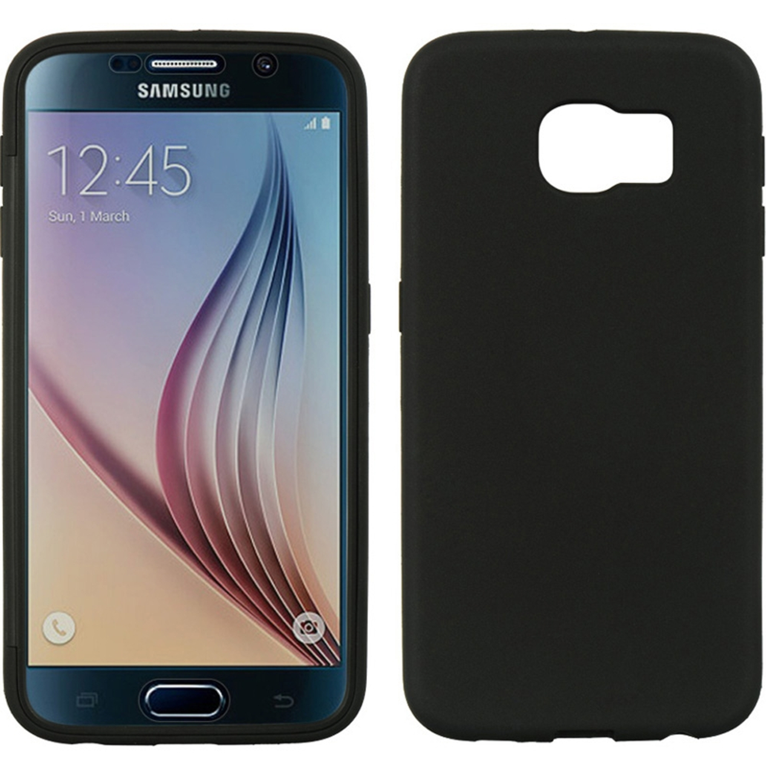 Samsung Galaxy S6 Case, by Insten Wrap-Up TPU Rubber Skin Gel Case w/Screen Protector For Samsung Galaxy S6
