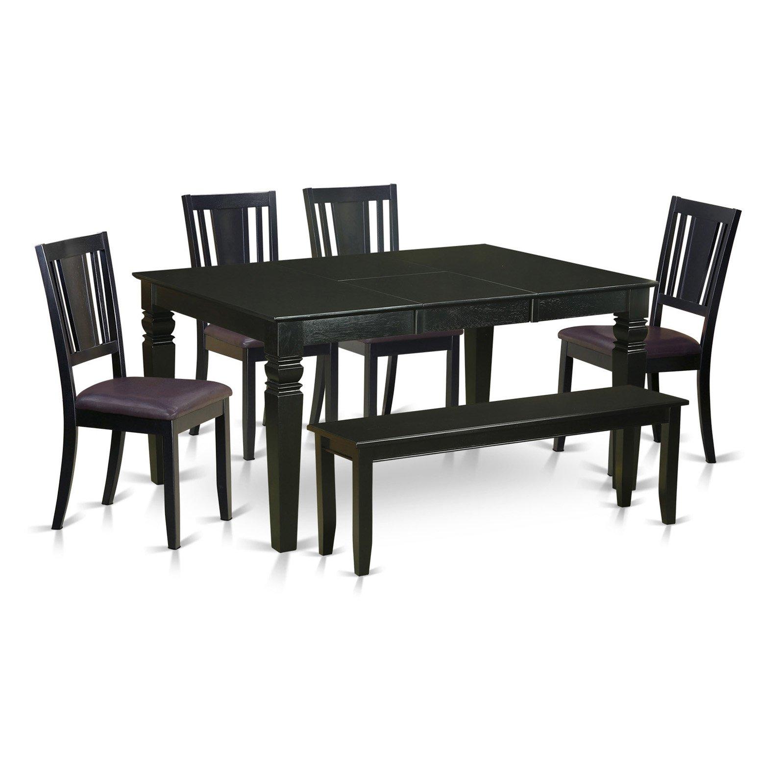 East West Furniture Weston 6 Piece Scotch Art Dining Table Set