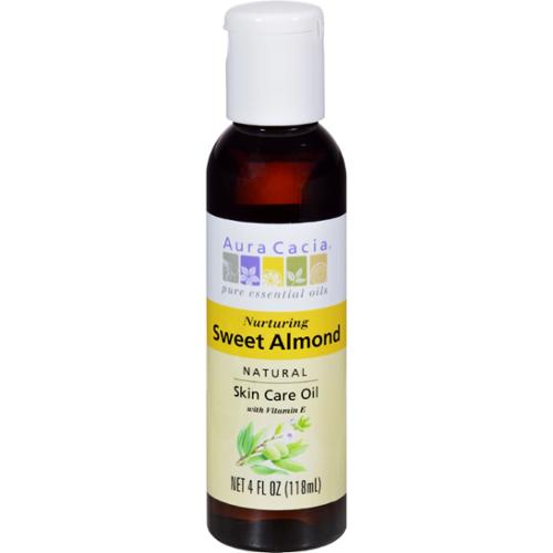 Aura Cacia Sweet Almond Natural Skin Care Oil 4 fl oz by Aura Cacia