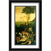 The Ship of Fools 2x Matted 26x40 Large Black Ornate Framed Art Print by Bosch, Hieronymus