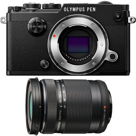 Olympus PEN-F 20MP Mirrorless Micro Four Thirds Digital Camera w/ 40-150mm Lens Bundle