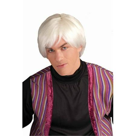 Andy Warhol Wig Pop Artist White Platinum Art Movie Star Adult Mens 60's 1960's