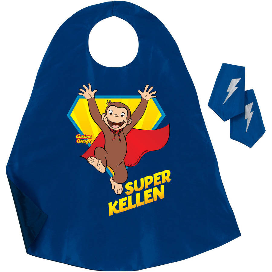 Personalized Curious George Super George Blue Cape by Generic