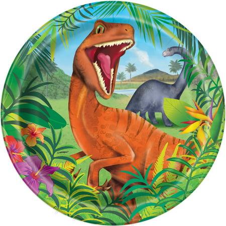 Dinosaur Paper Dinner Plates, 9in, 8ct - Dinosaur Party Plates