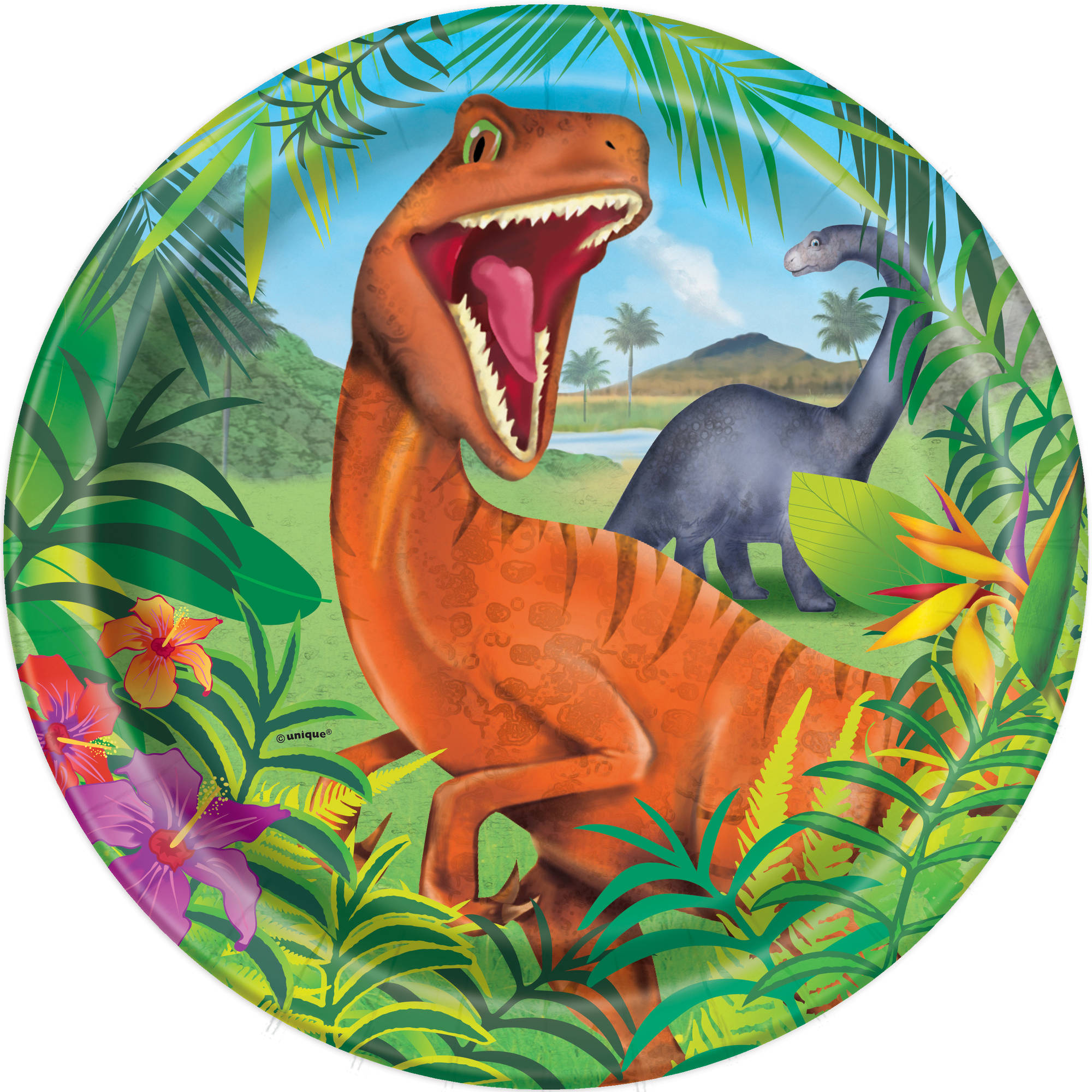 "9"" Dinosaur Party Plates, 8ct"