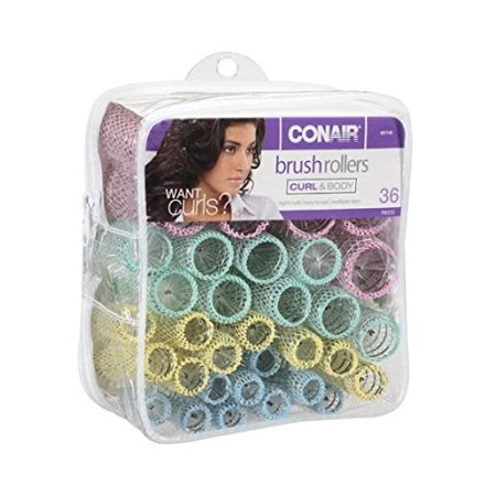 Conair Hc90cs 10 Piece Basic - Brush Rollers, Curl & Body 36 pieces, Tight curls,Easy to use,Multiple sizes By Conair Ship from US