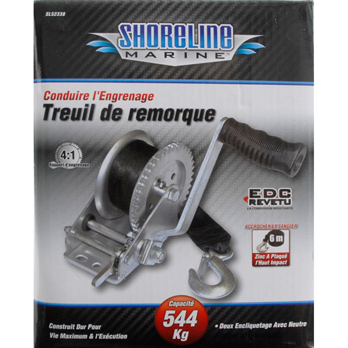 Shoreline Marine 1200 lb Trailer Winch with Strap by Shoreline Marine