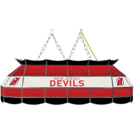 """NHL Handmade Tiffany Style Lamp, 40"""", New Jersey Devils by"""