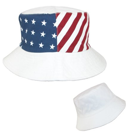 20d8cc45ecb Something Special - Something Special Cotton American Flag USA Reversible Bucket  Hat - Walmart.com