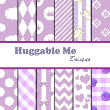 Baby Girl Lavender Scrapbook Paper - Printable Files on CD, 12 Designs of digital scrapbook paper on CD By Huggable Me Designs](Halloween Craft For Toddlers Printables)