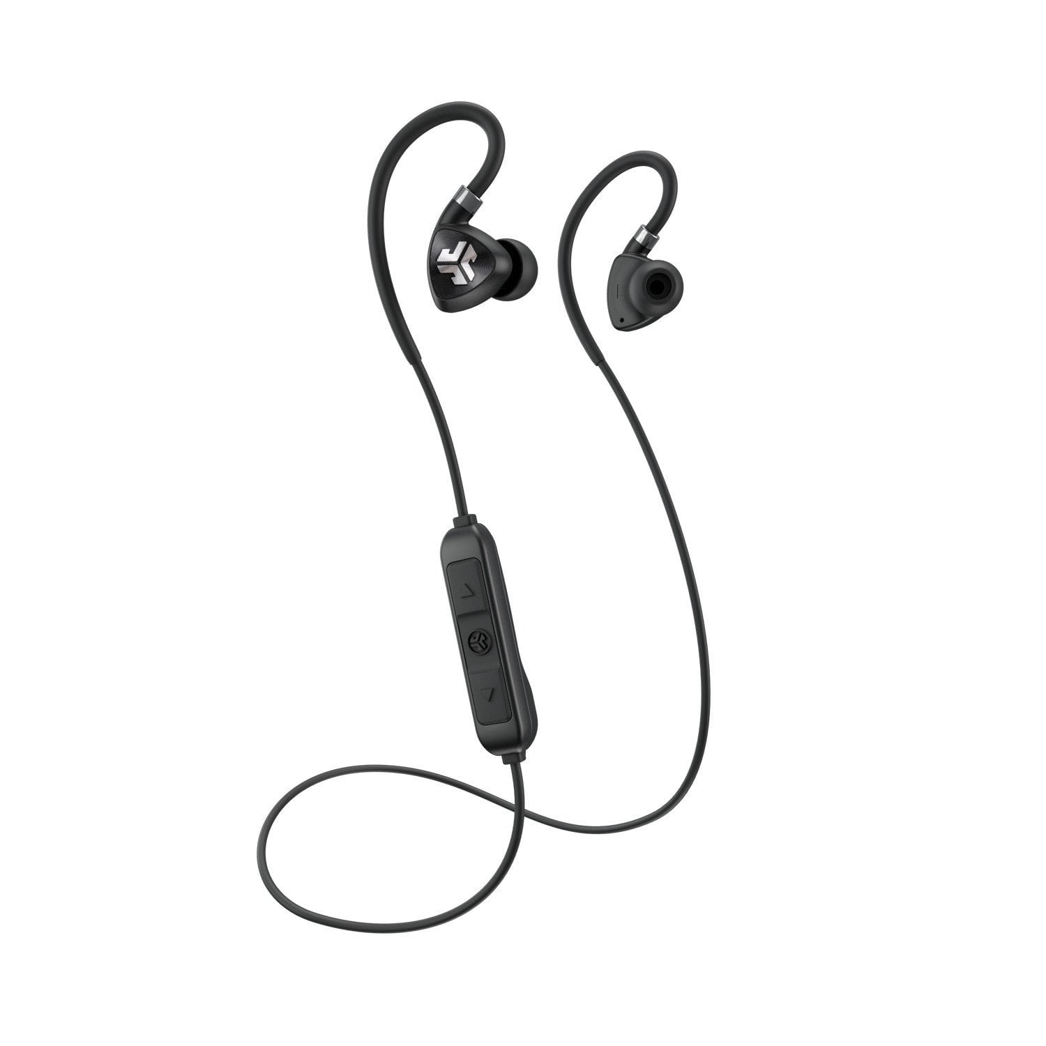 b87270c4118 JLab Audio Fit 2.0 Bluetooth Wireless Sport Earbuds - Black - Titanium 10mm  Drivers 6 Hour Battery Life Bluetooth 4.1 IP55 Sweat Proof Rating Extra Gel  Tips ...