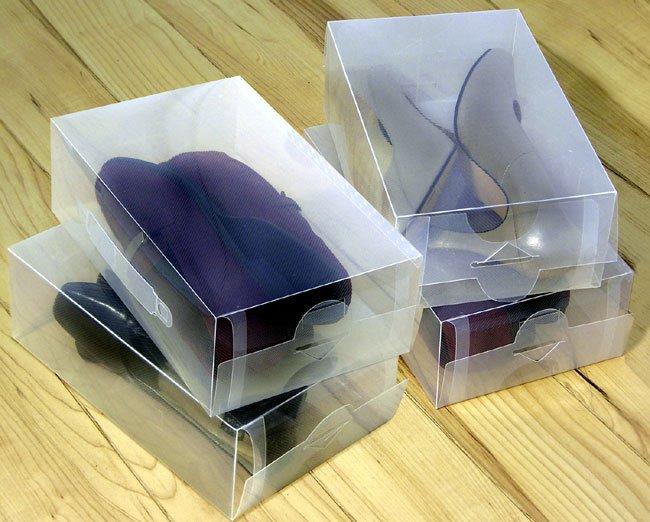 JABETC Clear Shoe Box Storage Boxes