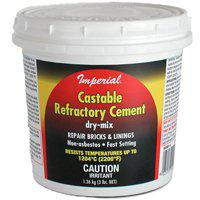 Imperial KK0061 Dry Mix Castable Refractory Cement, 1.36 kg, Tub, Tan To Gray, Powder