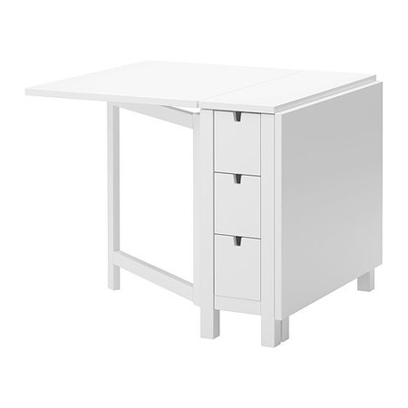 Ikea Gateleg table, white 1626.2928.1014 ()