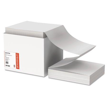 Universal Printout Paper, 1-Part, 20lb, 9.5 x 11, White, 2, 400/Carton -UNV15802