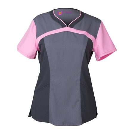 - Urbane Women's Short Sleeve Ultimate Colorblock Sweetheart Neck - 9055