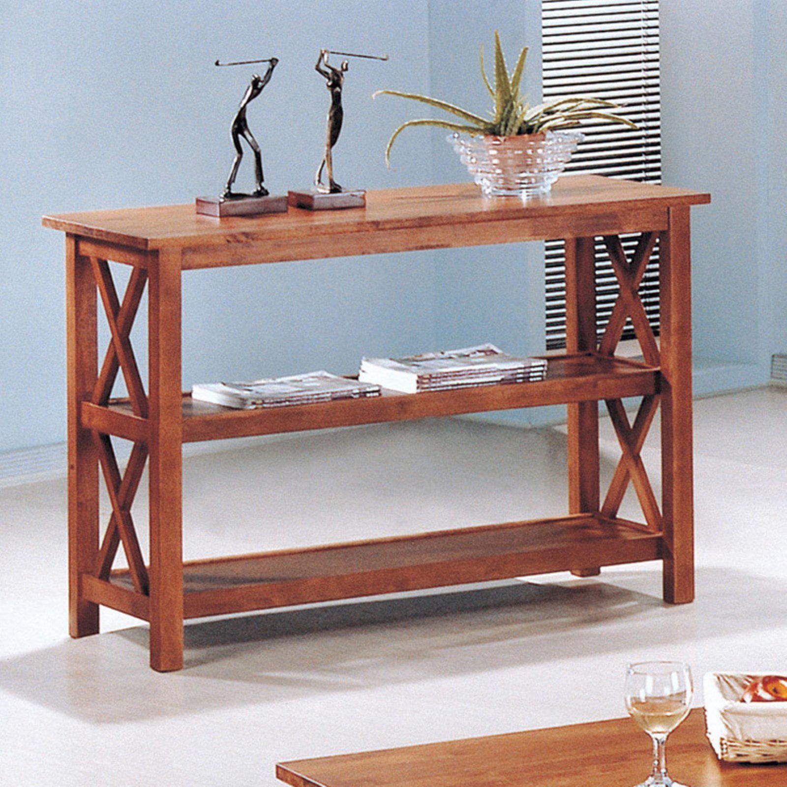 Coaster Company 3 Piece Console Table, Medium Brown