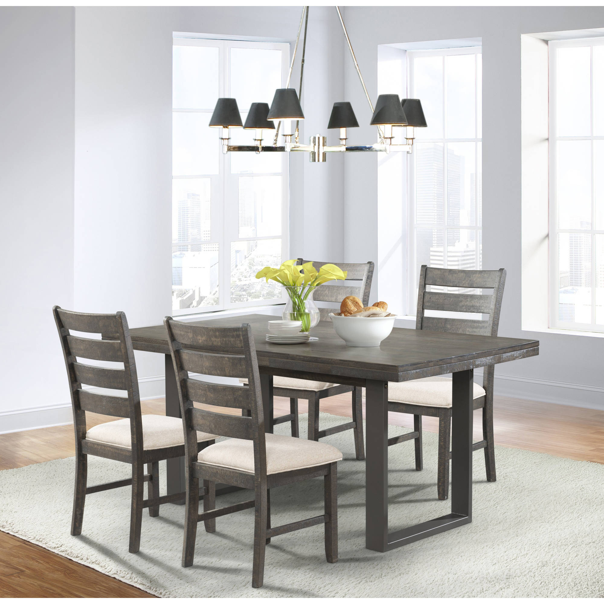Picket House Furnishings Sullivan 5-Piece Dining Set-Table and 4 Side Chairs