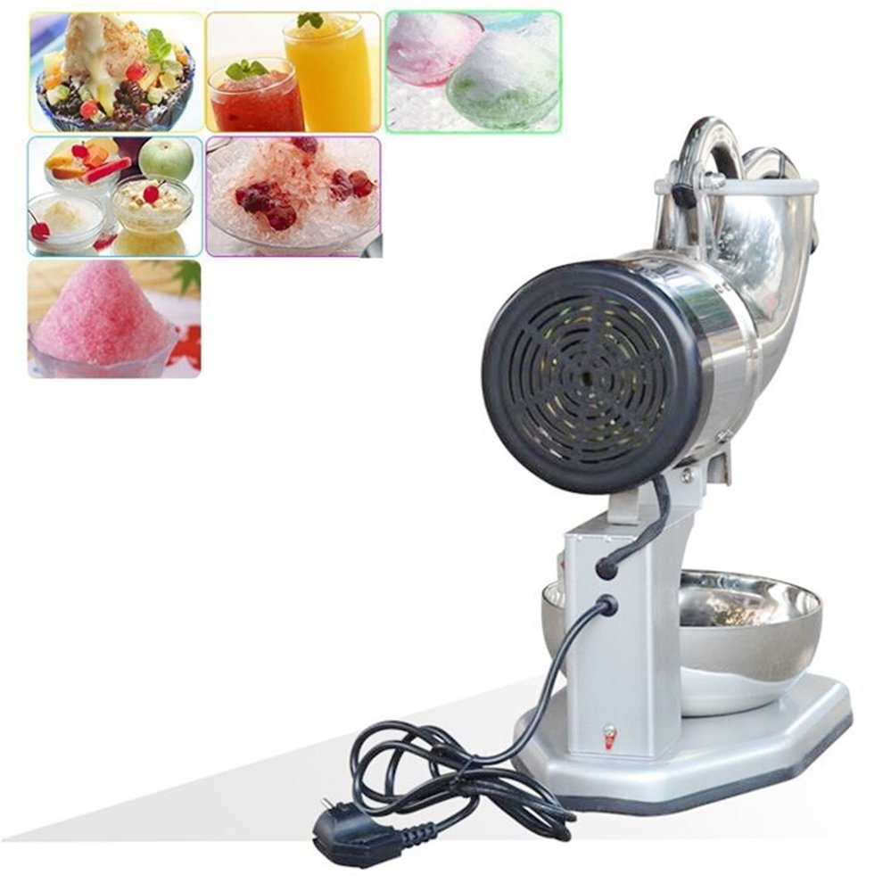 Electric Ice Shaver Make Snow Cone Machine Stainless Steel Blade Shaved Crusher Slice Fruit Vegetable For Party Restaurant Home or Commercial Use
