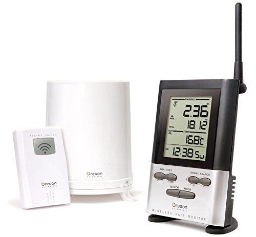 Oregon Scientific RGR126N Wireless Rain Gauge Weather Station with Thermometer by Oregon Scientific