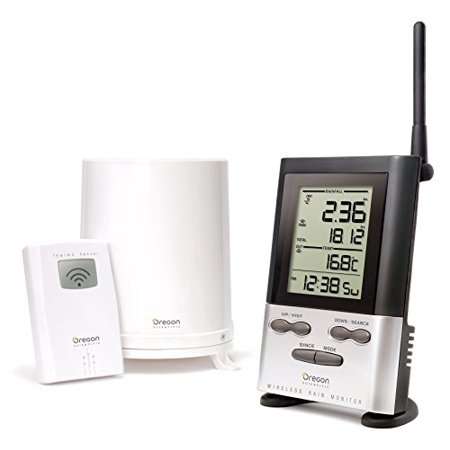 Oregon Scientific RGR126N Wireless Rain Gauge with 9 Day Memory & Outdoor (Oregon Scientific Wireless Thermometer With Atomic Clock)