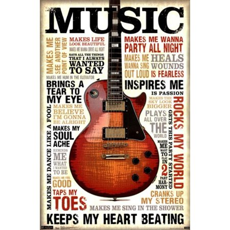 Music Inspires Me Poster Poster Print (Publisher Music Posters)
