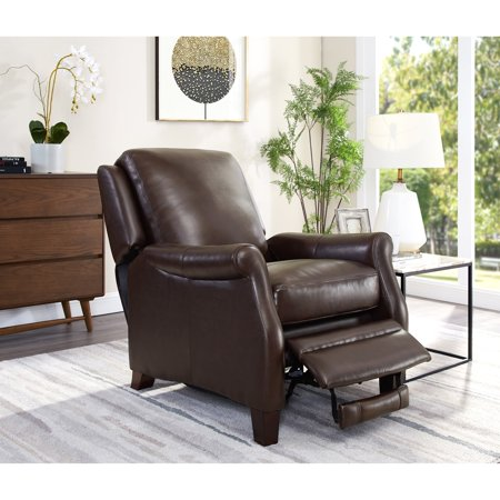 Premium Brown Leather (Levi Brown Premium Top Grain Leather Recliner Chair)