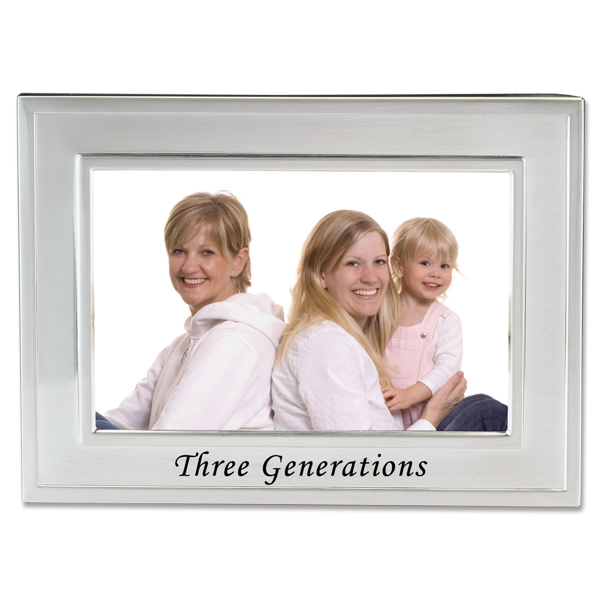 Brushed Metal 4x6 Three Generations Picture Frame - Sentiments ...
