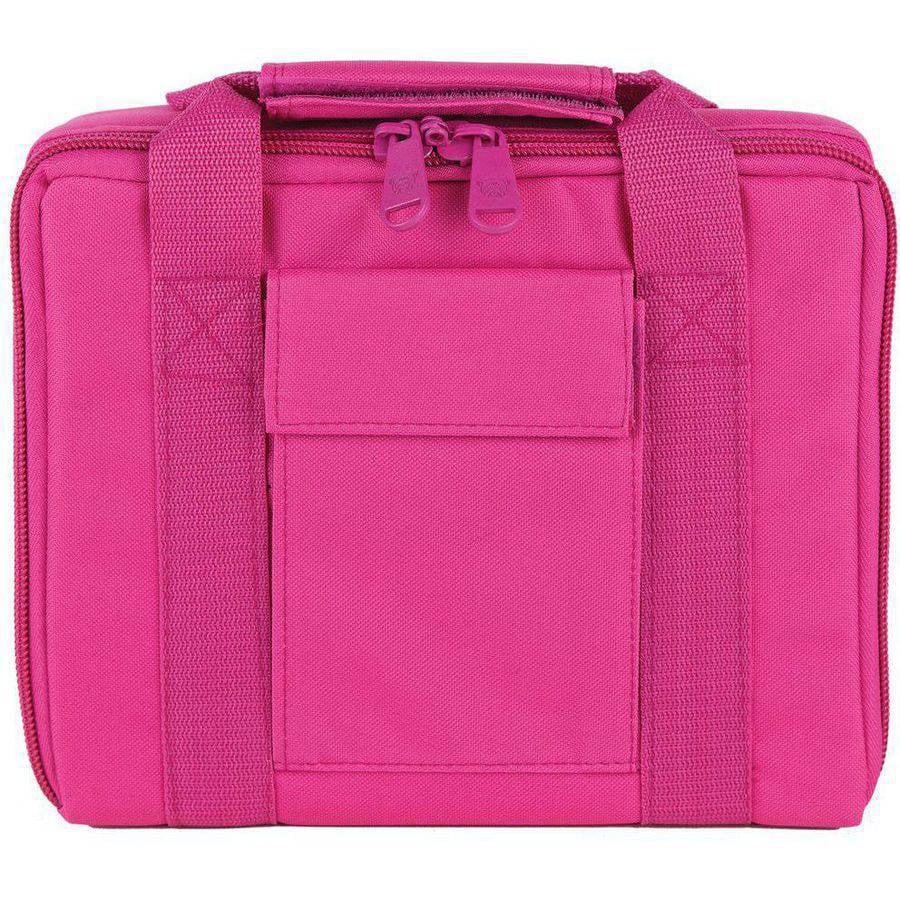 "Bulldog Cases Hard Sided Nylon 2 Pistol Case W/ Locking Zipper- Pink 11"" x 9"""