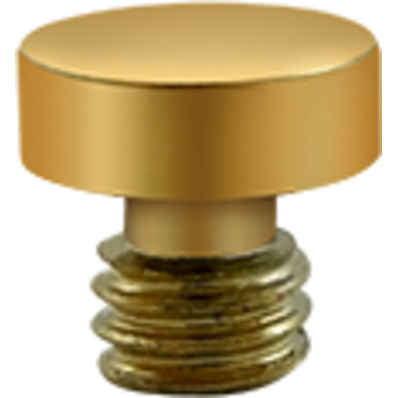 Decorative Solid Brass Button Tip Cabinet Hinge Finials Lifetime Polished Brass