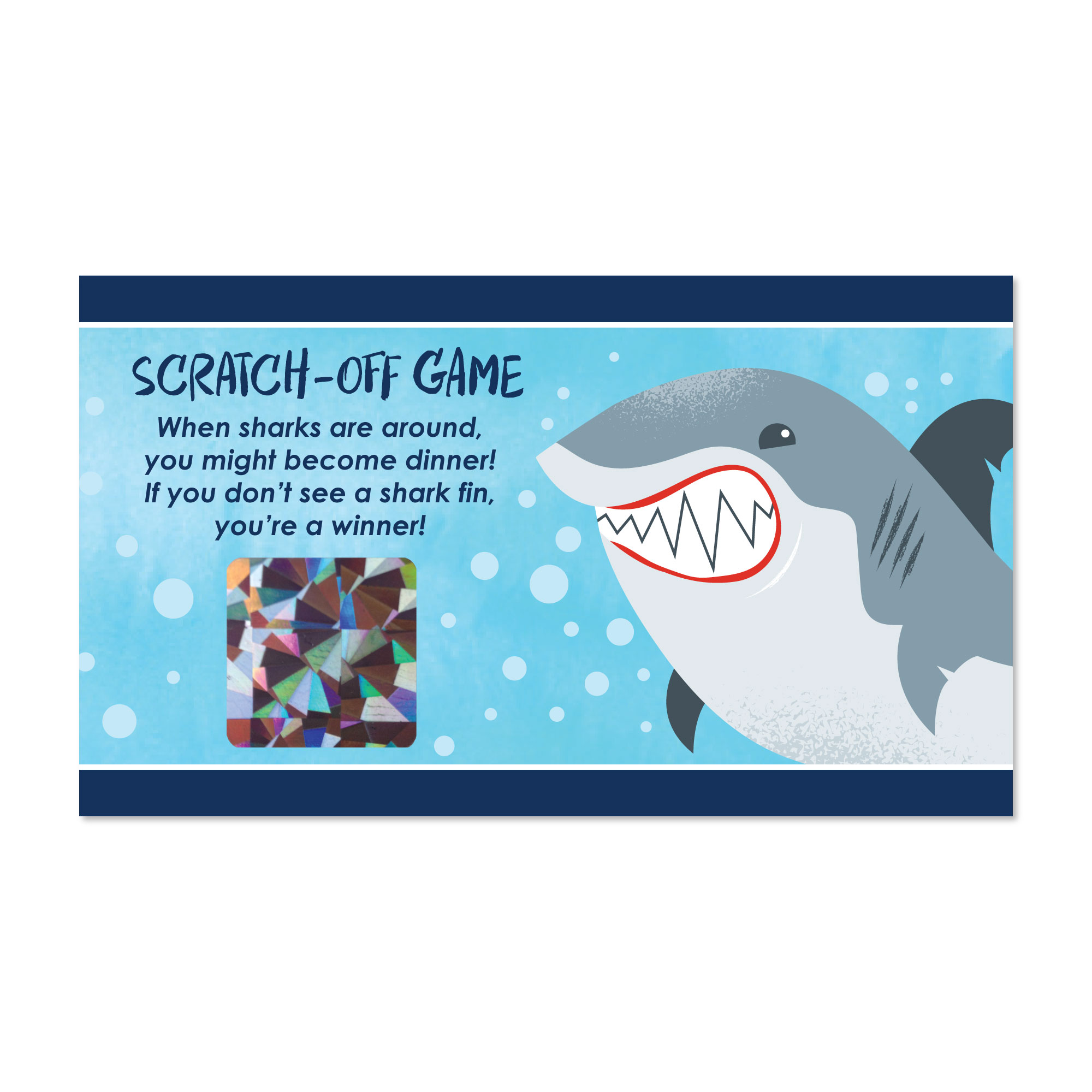 Shark Zone - Shark Week Party - Jawsome Shark Party or Birthday Party Game Scratch Off Cards - 22 Count