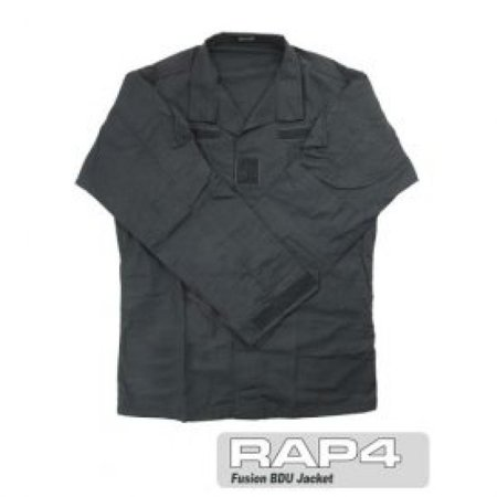 Black BDU Jacket 4X Large - paintball apparel