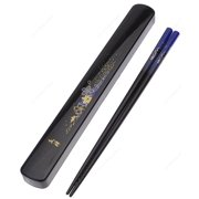 Kafuh KS8/B Japanese Chopsticks Set with Travel Carry Case, Blue with Beautiful Foral