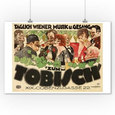 Zum Tobisch Vintage Poster  Artist  Bayer Pollock  Austria C  1922  9X12 Art Print  Wall Decor Travel Poster