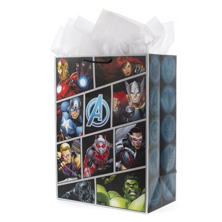Unique Superhero Gifts (Hallmark Oversized Avengers Gift Bag with Tissue Paper (Superhero)