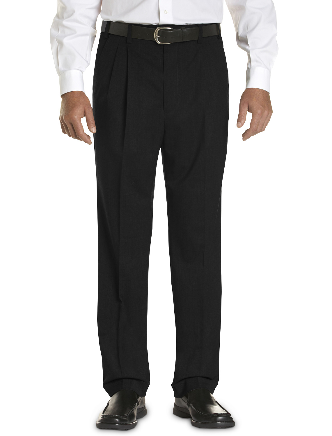men's big & tall gold series continuous comfort pleated dress pants – unhemmed
