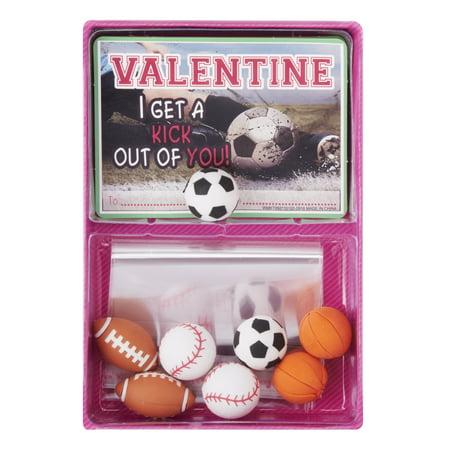 Way To Celebrate Valentines Day Sport Eraser Cards 8 Count